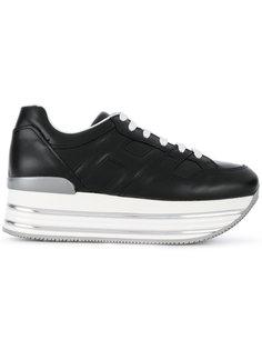 Женские кроссовки на платформе Hogan