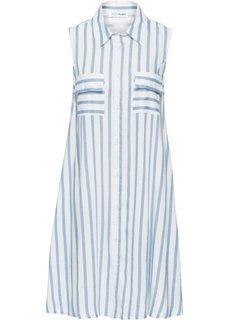 Платье (белый/нежно-голубой в полоску) Bonprix