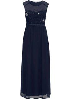Платье вечернее с пайетками (темно-синий) Bonprix