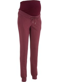 Для будущих и кормящих мам: трикотажные брюки для фитнеса (темно-бордовый) Bonprix