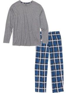 Пижама (серый меланж в клетку) Bonprix