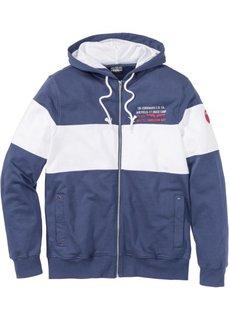 Куртка Regular Fit с капюшоном (индиго/белый) Bonprix