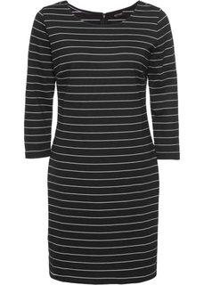Платье в полоску (черный/белый) Bonprix
