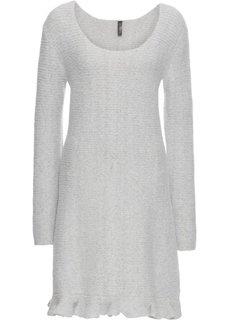 Платье с воланом (светло-серый меланж) Bonprix