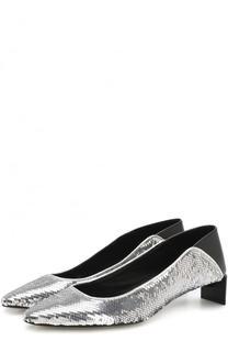 Комбинированные туфли с пайетками Loewe