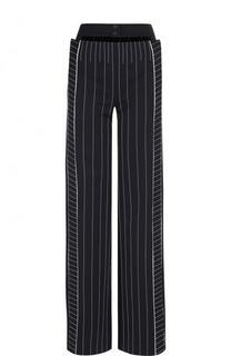 Расклешенные брюки в полоску с карманами Valentino