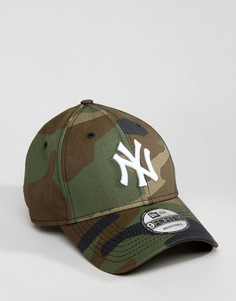 Кепка с камуфляжным принтом New Era 9Forty NY Yankees - Зеленый