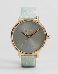 Часы с зеленым кожаным ремешком Nixon Kensington - Зеленый
