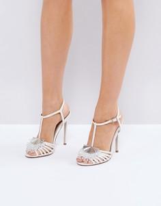 Декорированные босоножки на каблуке ASOS HONEY BLOOM Bridal - Кремовый
