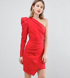 Платье мини на одно плечо ASOS TALL ULTIMATE - Красный