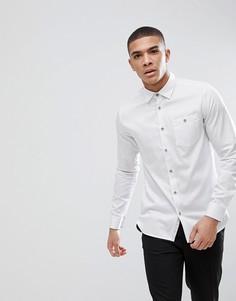 Узкая рубашка в горох Ted Baker - Белый