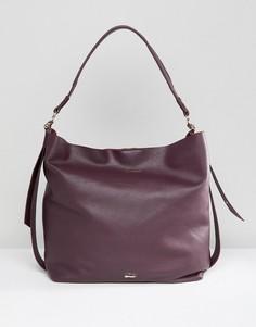 Красная кожаная сумка на плечо Paul Costelloe - Красный
