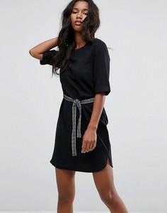 Платье с поясом Vero Moda - Черный