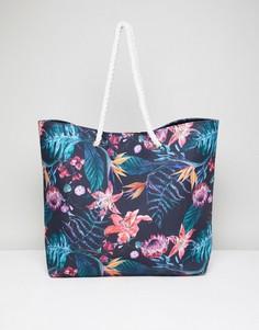 Пляжная сумка с тропическим принтом South Beach - Мульти