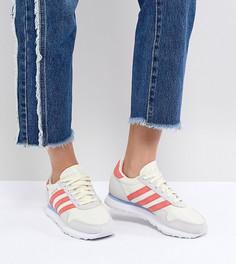 Женские кроссовки (бежевый/красный) adidas Originals Haven - Белый