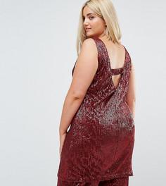 Платье-футляр с пайетками и V-образным вырезом на спине Elvi - Красный 03b9a4625c5