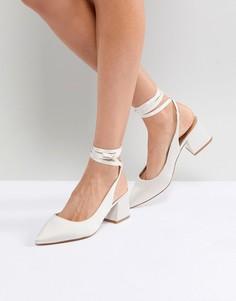 Туфли на каблуке с острым носом ASOS SWEETHEART - Кремовый