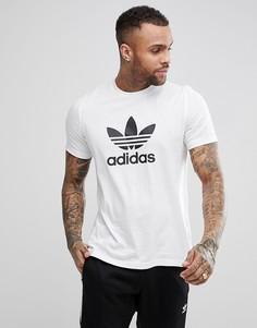 Белая футболка с логотипом-трилистником adidas Originals adicolor CW0710 - Белый