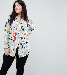 Рубашка с геометрическим принтом Koko - Мульти