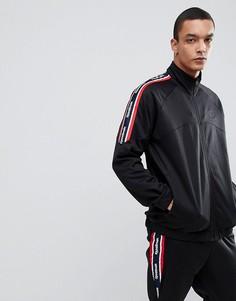 Черная спортивная куртка в стиле ретро Reebok BQ3604 - Черный
