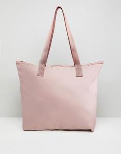 Повседневная сумка для покупок на молнии ASOS - Розовый
