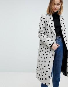 Пальто в горошек ASOS - Мульти