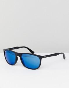 Вайфареры с синими стеклами Ray-Ban 0RB4291 - 58 мм - Черный
