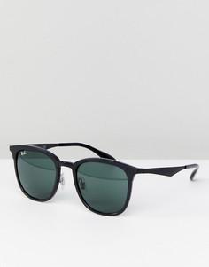 Черные квадратные солнцезащитные очки Ray-Ban 0RB4278 - 51 мм - Черный