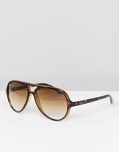 Черные солнцезащитные очки-авиаторы Ray-Ban 0RB4125 - 50 мм - Черный