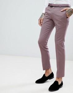 Супероблегающие брюки в стиле смокинга с геометрическим узором Noose & Monkey - Фиолетовый