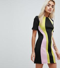 Платье мини колор блок ASOS PETITE - Мульти