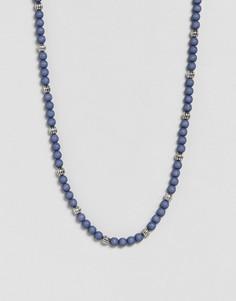 Ожерелье Icon Brand эксклюзивно для ASOS - Синий