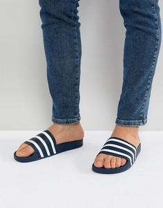 Темно-синие шлепанцы adidas Originals Adilette 288022 - Темно-синий