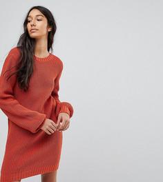 Вязаное платье мини с V-образным вырезом сзади ASOS TALL - Красный