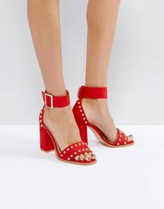 Красные босоножки на блочном каблуке RAID Jessie - Красный