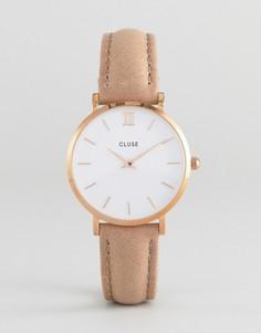 Часы с кожаным ремешком CLUSE CL30043 Minuit - Коричневый