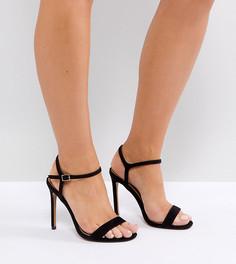 Босоножки на каблуке для широкой стопы ASOS HANDS DOWN - Черный