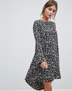 Платье с цветочным принтом Y.A.S Sunia - Коричневый