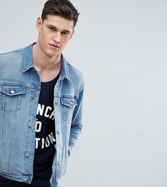 Светлая приталенная джинсовая куртка ASOS TALL - Синий