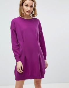 Структурированное вязаное платье мини ASOS - Фиолетовый
