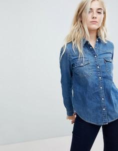 Джинсовая рубашка в стиле вестерн Levis - Синий