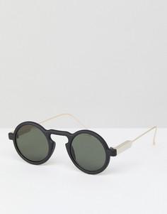 Черные круглые солнцезащитные очки Spitfire Aurora - Черный