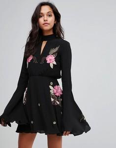 Платье с вышивкой Millie Mackintosh - Черный