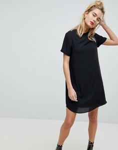 Свободное полупрозрачное платье мини ASOS - Черный