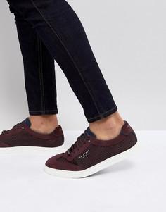 Кроссовки с замшевыми вставками Ted Baker Phranco - Красный