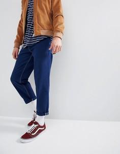 Синие расклешенные джинсы с контрастными строчками ASOS - Синий
