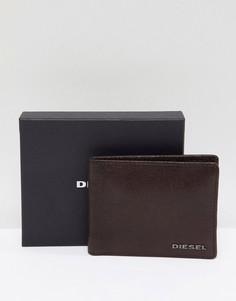 Коричневый кожаный бумажник Diesel - Коричневый