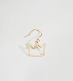 Серебряные серьги в виде корон с покрытием 14-каратным золотом Serge DeNimes - Золотой