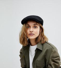Плоская кепка с добавлением шерсти Reclaimed Vintage Inspired - Черный