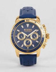Часы с темно-синим кожаным ремешком Versus Versace S3002 Aberdeen - Темно-синий